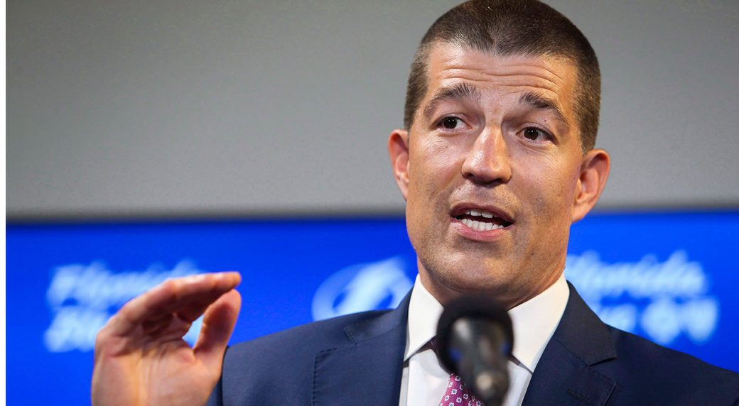 NHL-Lightning-GM-Brisebois-speaks-during-press-conference