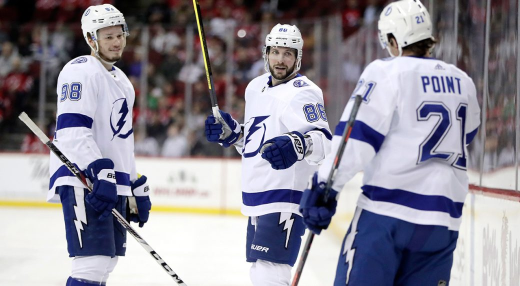 NHL-Lightning-Kucherov-celebrates-goal-against-Devils