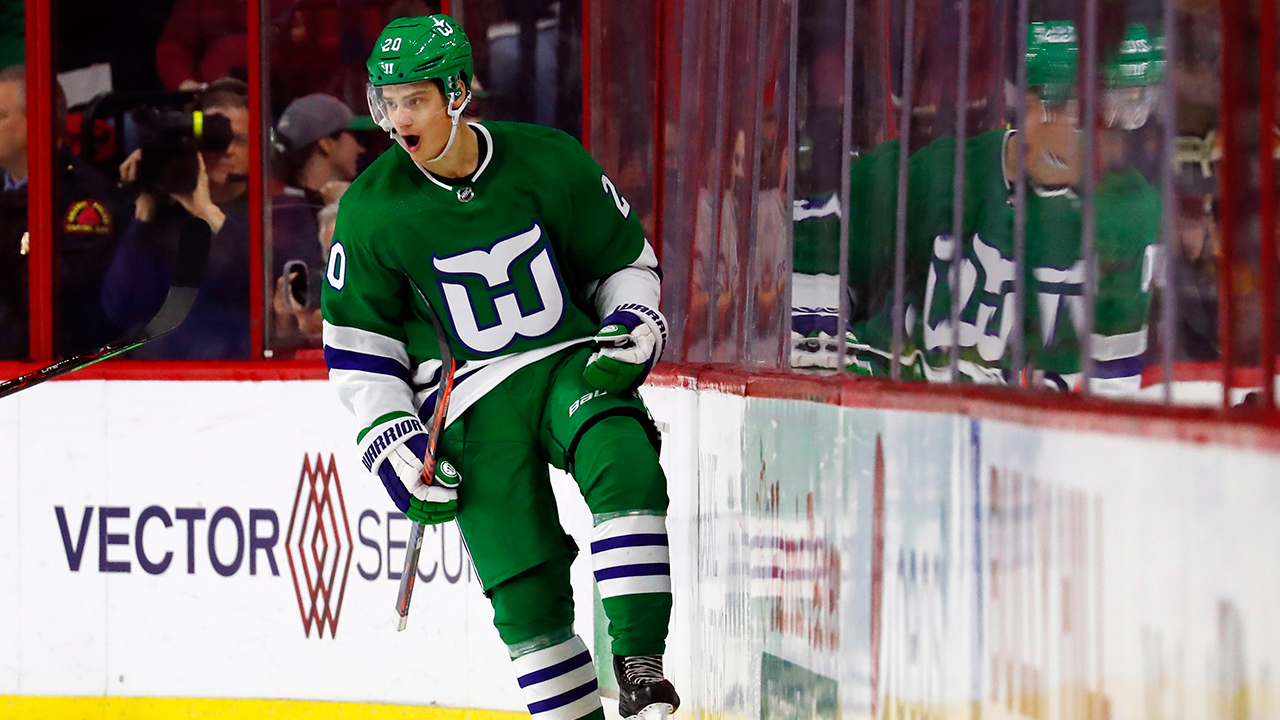 d360611c Aho, Teravainen lead Hurricanes past Bruins on Whalers night ...