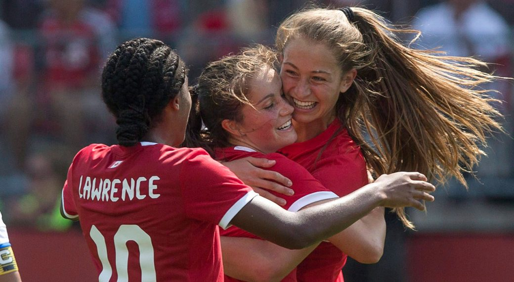 Soccer-Canada-Huitema-celebrates-goal