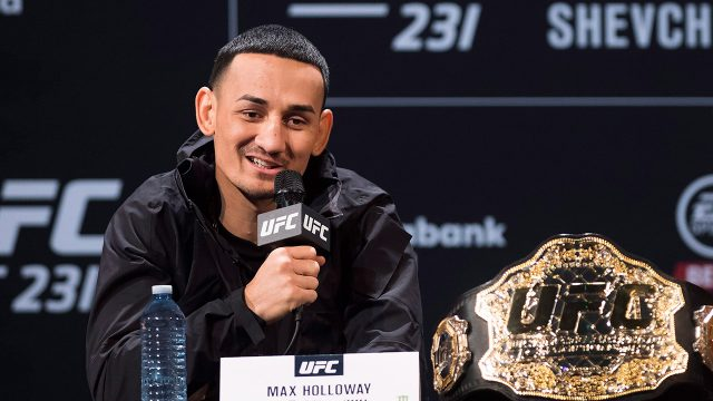UFC-champion-Max-Holloway-speaks-at-press-conference
