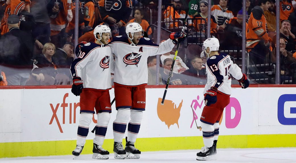 finest selection fce56 cc459 Seth Jones scores in OT to lift Blue Jackets over Flyers ...