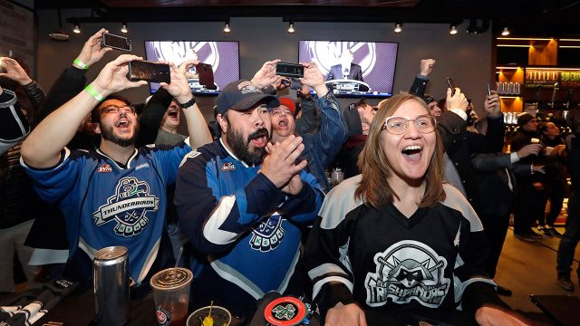 Fans-cheer-the-announcement-of-a-new-NHL-hockey-team-in-Seattle-at-a-celebratory-party