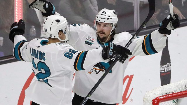 sharks-kevin-labanc-celebrates-with-erik-karlsson