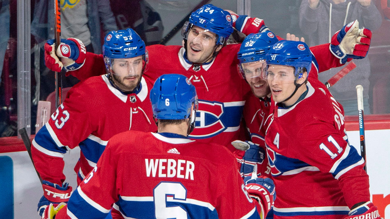 NHL-Canadiens-celebrate-goal-against-Panthers