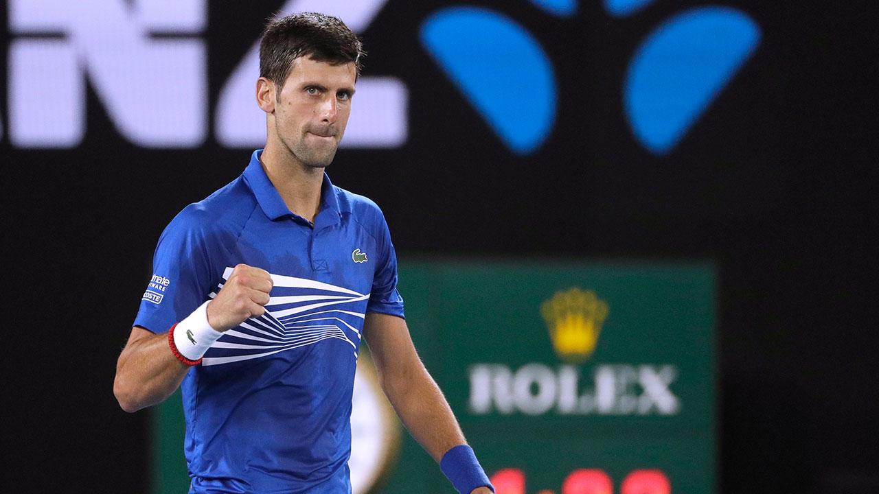 Novak_Djokovic_Celebrates_Win_Over_Lucas_Pouille_Australian_Open