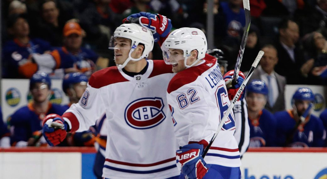 canadiens-noah-juulsen-celebrates-scoring-a-goal