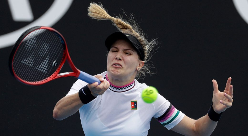 genie-bouchard-plays-a-forehand-at-the-australian-open
