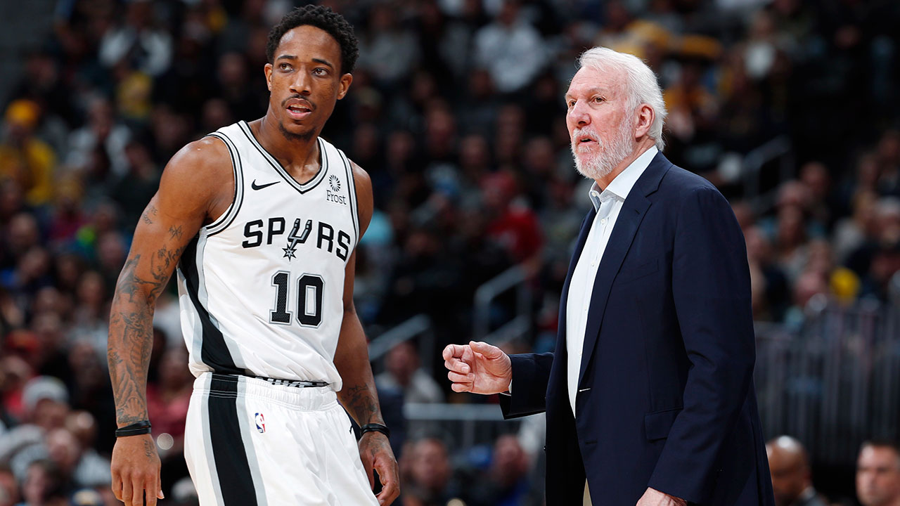 "Gregg-Popovich-gives-with-Demar-derozan ""width ="" 100% ""class ="" size-full wp-image-4399227 ""/> San Antonio Spurs-security guard DeMar DeRozan, left, gives with trainer Gregg Popovich during a hiatus in the second half of the team's NBA basketball game against the Denver Nuggets in Denver on Friday, December 28, 2018. (David Zalubowski / AP)   <p> Historically, the Spurs avoided making noise on the cut-off date It's likely to be no different this year, with the confusion of DeRozan's contractual uncertainty – should he opt out of his $ 27.7 million player option this summer, he's eligible for a free agent – and the playoff prospects of San Antonio make this deadline revealing an important factor. </p> <p> Just as Masai Ujiri's activities on February 6 will shed light on how far he believes the defending NBA champions can be successful, Gregg Popovich and co. Will say a lot about how DeRozan in their long and Short positions fit long-term plans. </p> <p> If San Antonio lost him for free in the summer, he exchanged Kawhi Leonard for two years against DeRozan and Jakob Poeltl, while at the same time not recording any of Toronto's emerging young talents in Pascal Siakam, Fred VanVleet or OG Anunoby for preparation for the future ; Keeping it does not guarantee a playoff spot, let alone a path to the final. </p> <p> If San Antonio were dealing with DeRozan, it would not be an indictment for his time there – just as his departure from Toronto made what he did for the Raptors no less meaningful. He always gave everything he could. But sometimes franchisees need something else. </p> <p><img src="