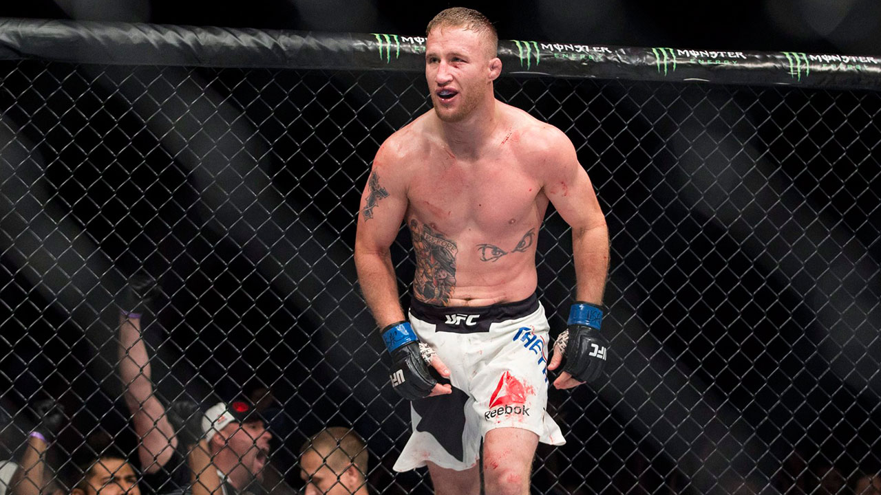 justin-gaethje-celebrates-after-beating-michael-johnson-in-ufc-fight