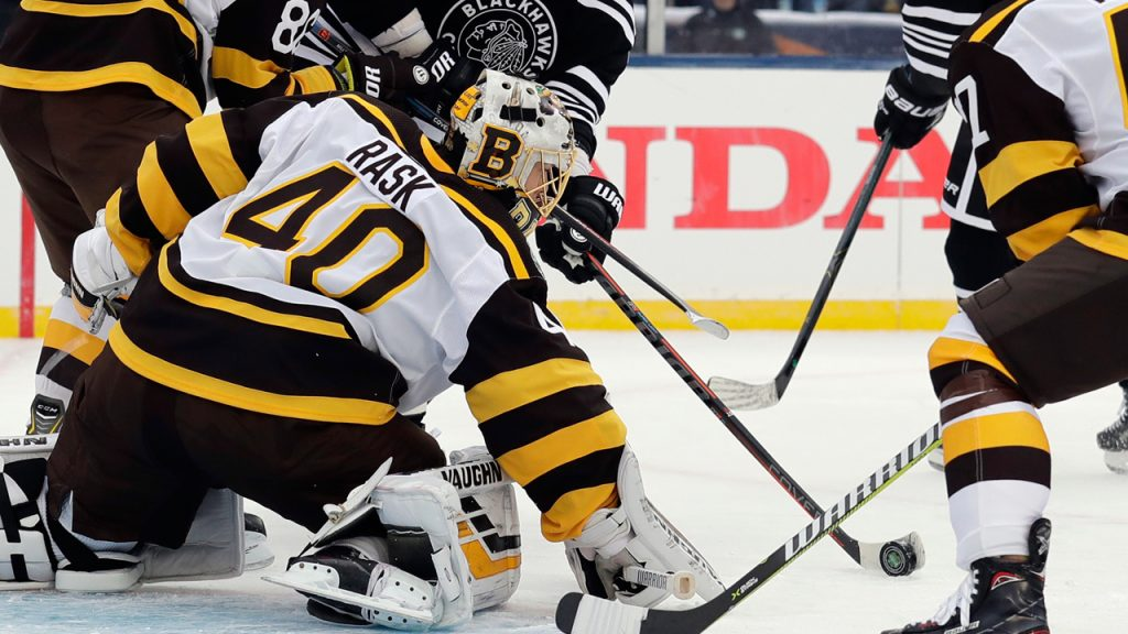 low priced 3e959 02d45 Bruins double up Blackhawks to win Winter Classic at Notre ...