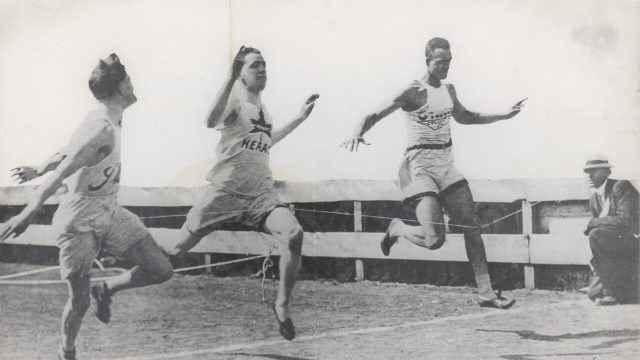 Army-Howard-Canada's-first-black-Olympian-crossing-finish-line