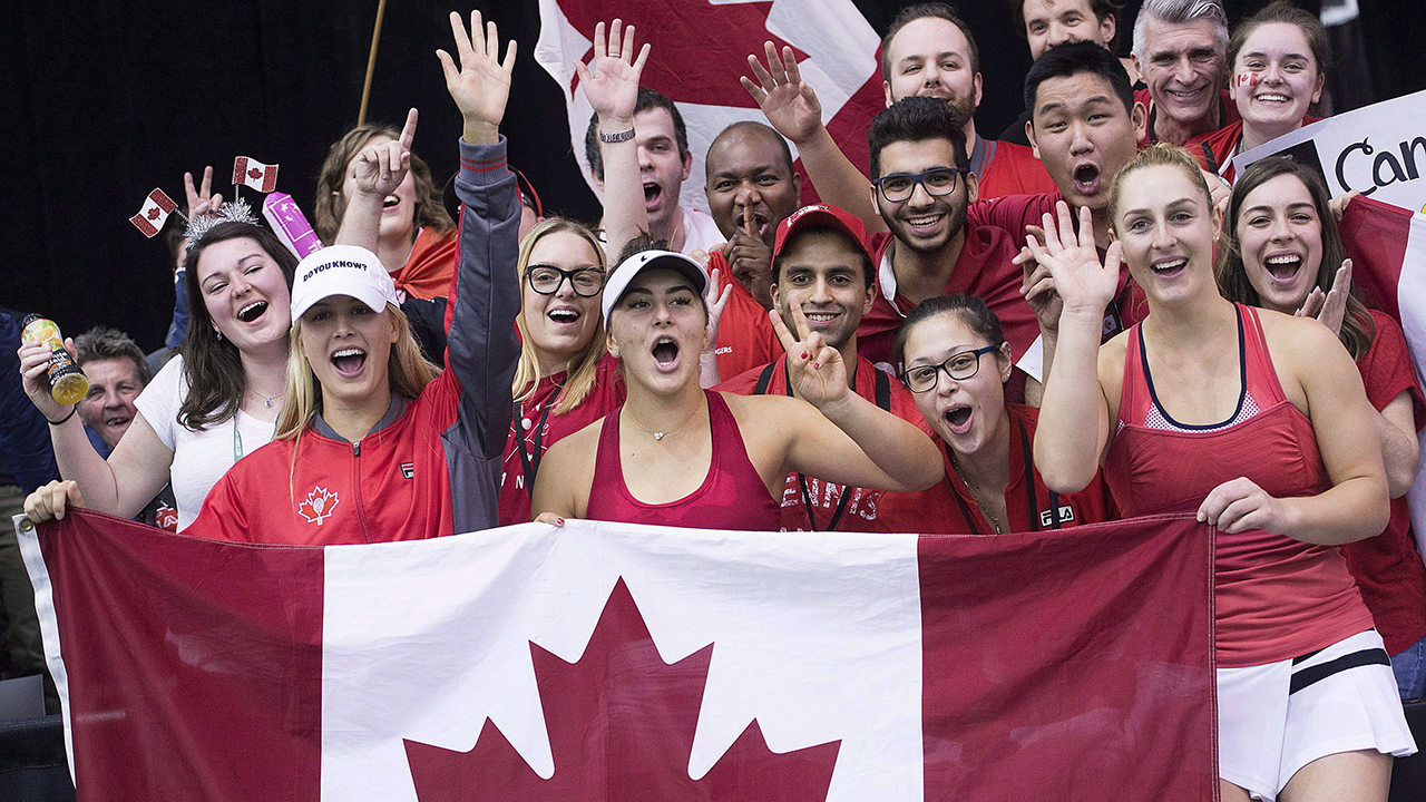 Canada to play host Switzerland in Fed Cup, U.S. to face Latvia