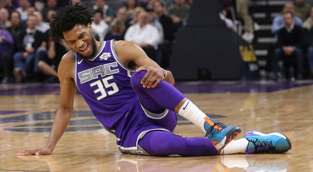 big sale f42b3 e5a44 Kings' Marvin Bagley out at least one week with injured knee ...