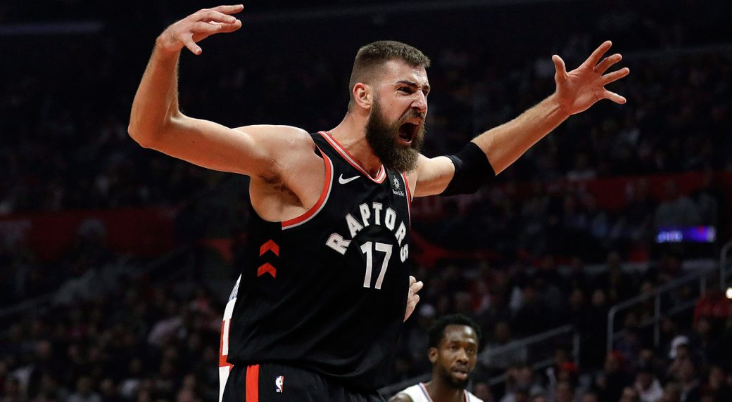 NBA-Raptors-Valanciunas-celebrates-after-basket