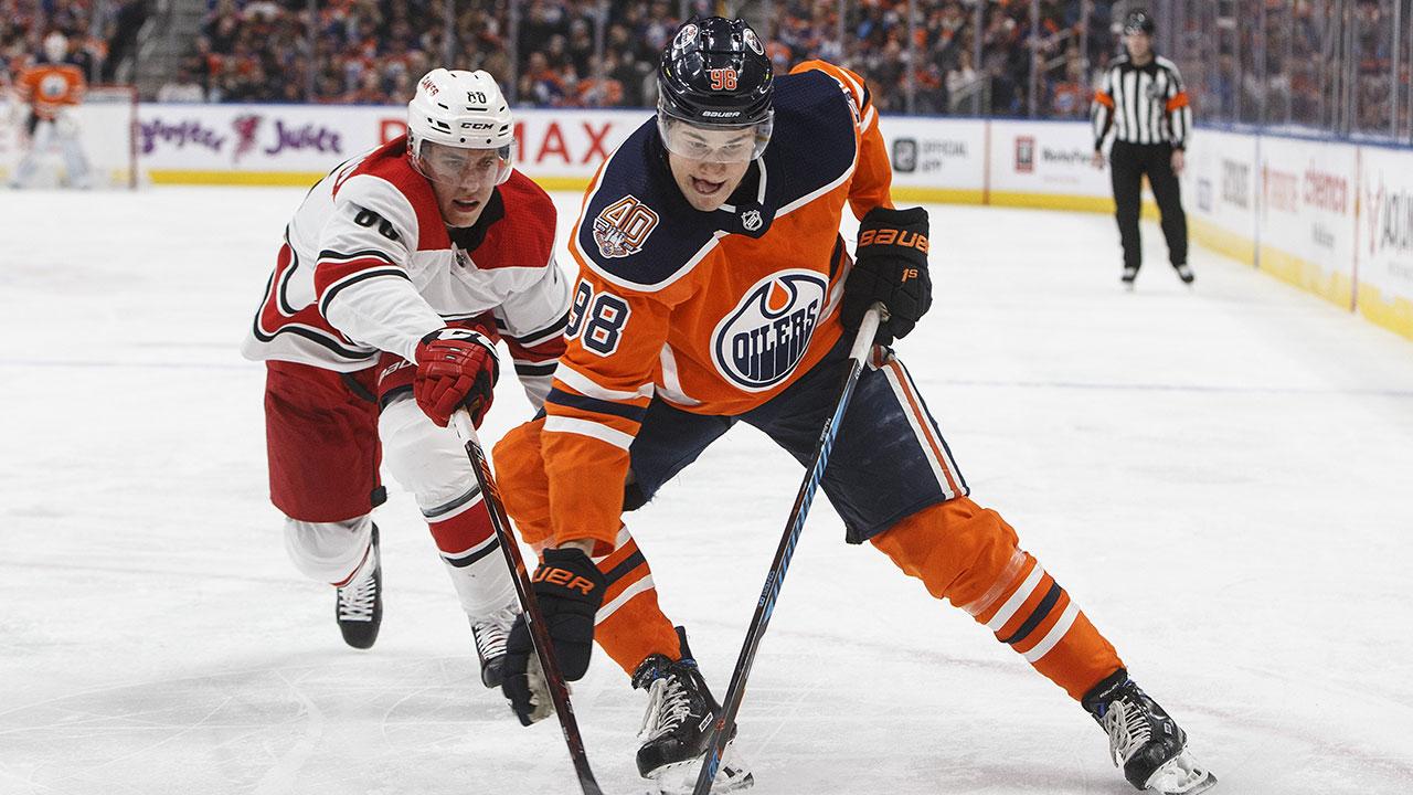 NHL-Oilers-Puljujarvi-skates-against-Hurricanes