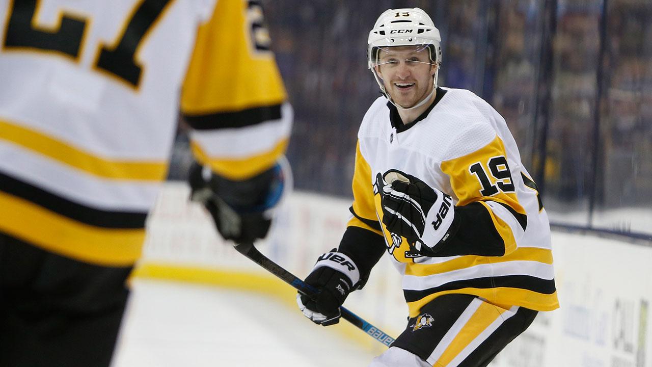 NHL-Penguins-McCann-celebrates-goal-against-Blue-Jackets
