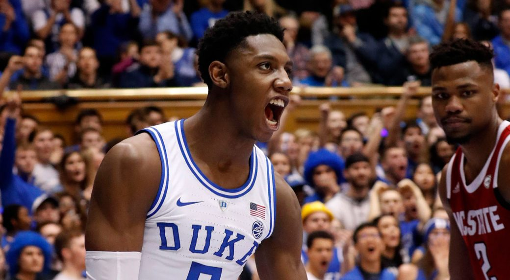 Basketball-Duke-Barrett-celebrates-after-scoring
