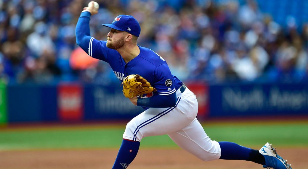 MLB-Blue-Jays-Reid-Foley-throws-against-Indians