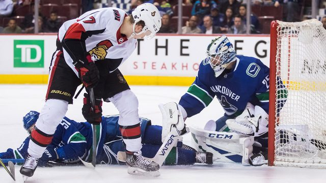 NHL-Canucks-Markstrom-makes-save-against-Senators