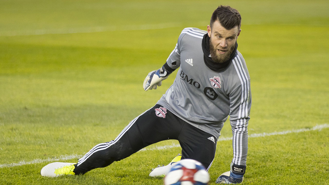 Toronto FC goalkeeper Quentin Westberg tries to maintain perspective