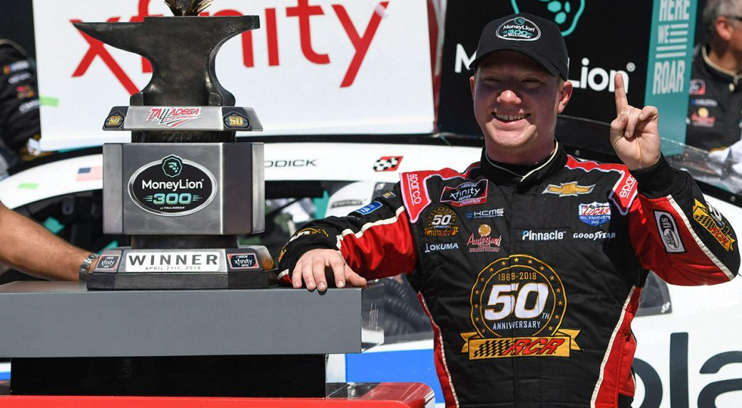 Auto-racing-Nascar-Tyler-Reddick-celebrates-after-win