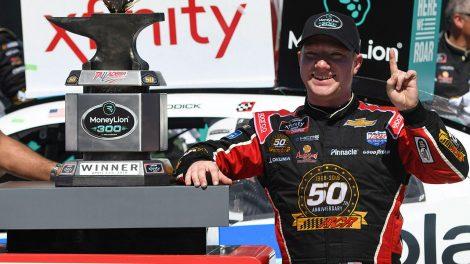 Auto-racing-Nascar-Tyler-Reddick-celebrates-after-win