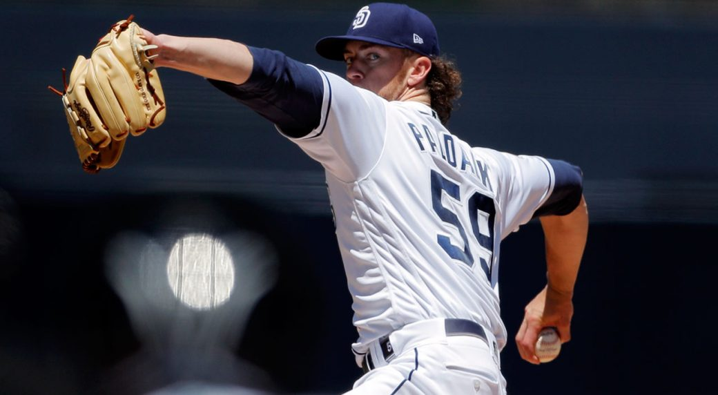 MLB-Padres-Paddack-throws-to-the-Mariners