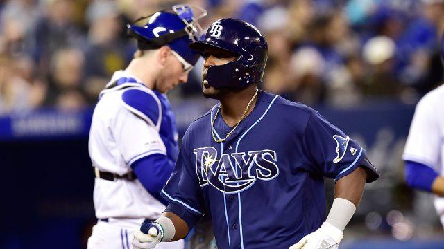 MLB-Rays-Heredia-celebrates-after-hitting-home-run