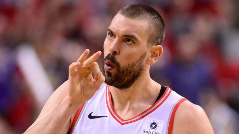 NBA-Raptors-Gasol-celebrates-shot-against-Magic