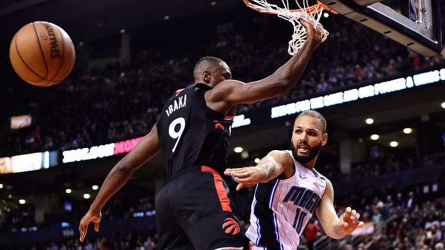 NBA-Raptors-Ibaka-blocks-Fournier-ass