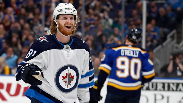 NHL-Jets-Connor-celebrates-goal-against-Blues