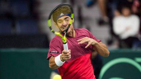 Tennis-ATP-Garin-returns-shot