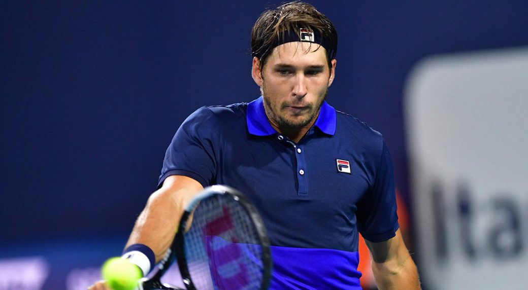 Tennis-ATP-Lajovic-returns-shot