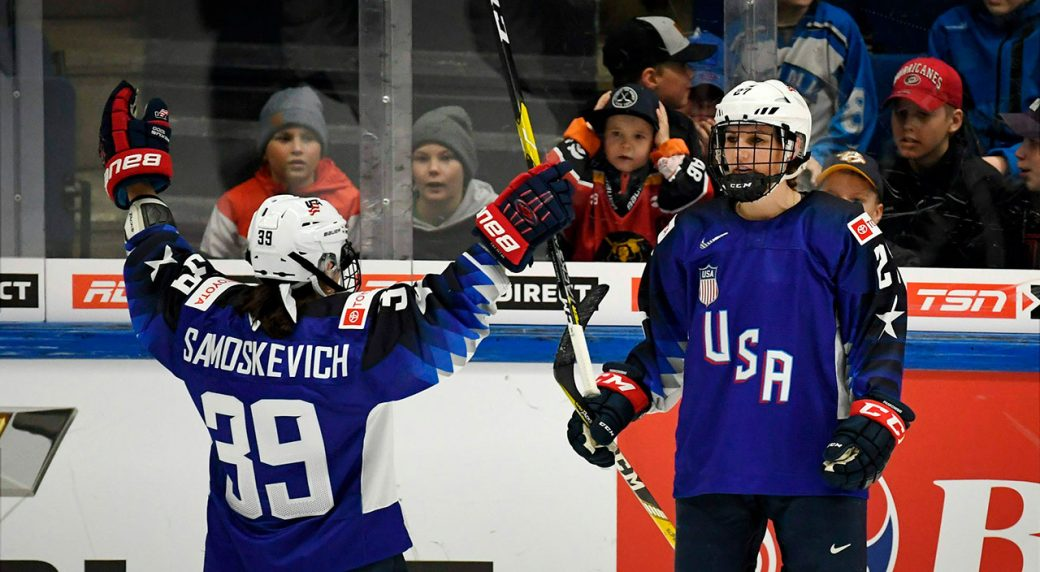 U S Edges Canada In Group Stage Women S World Hockey Championship