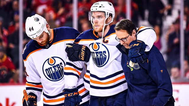 Connor-McDavid;-Edmonton-Oilers;-leg-injury