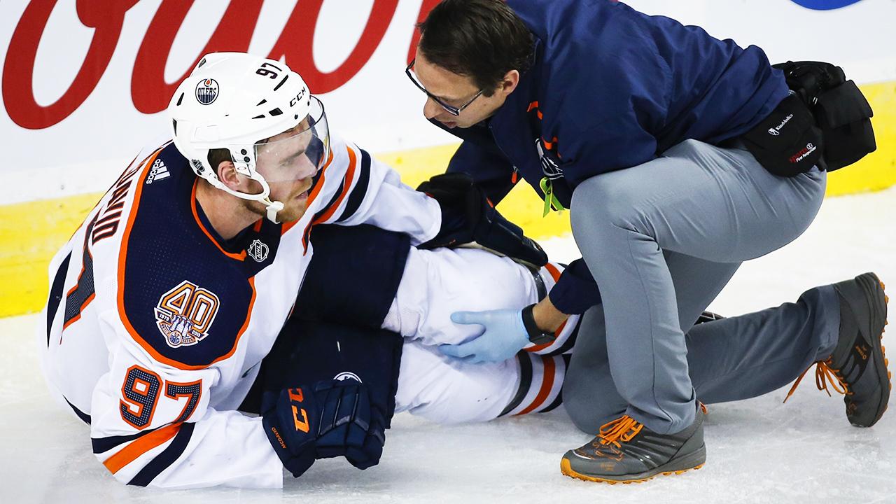 Connor-McDavid;-Edmonton-Oilers;-leg-injury