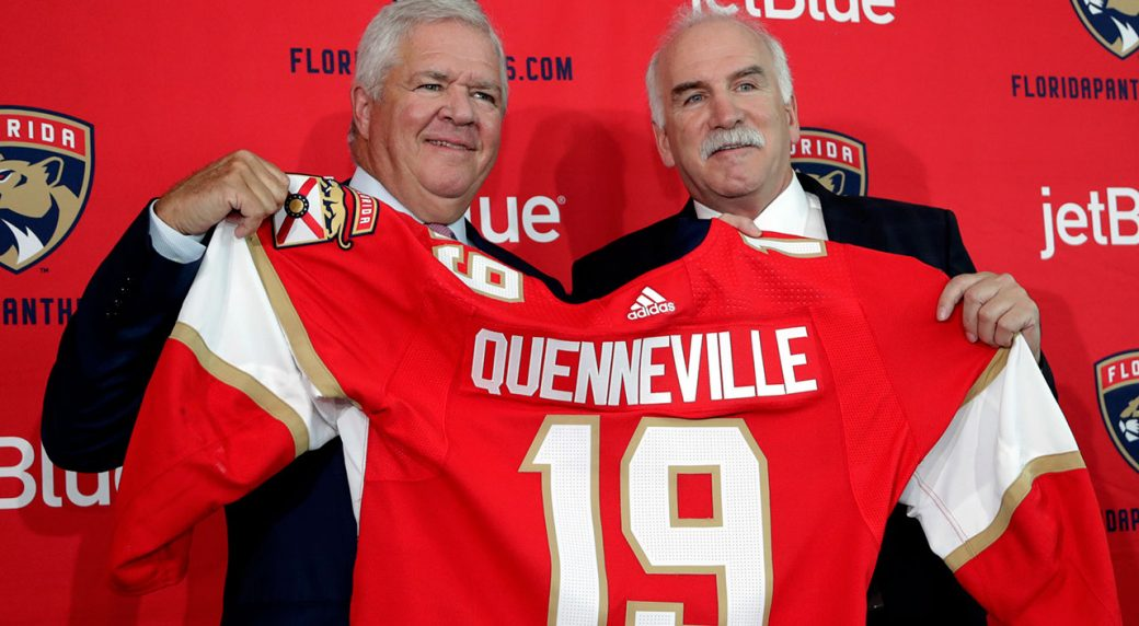 dale-tallon-joel-quenneville-florida-panthers-press-conference