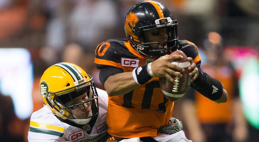 CFL-Eskimos-Konar-makes-sack-against-Lions