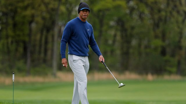 Golf-PGA-Tiger-Woods-walks-on-green-during-practice-round