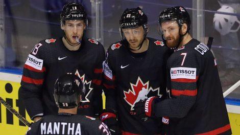 Hockey-Canada-Reinhart-celebrates-goal-against-Denmark