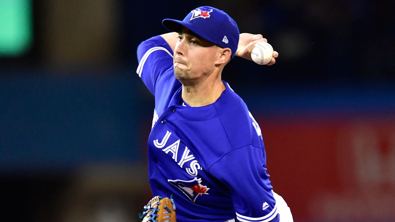new style 076ac 08dd2 Blue Jays' Aaron Sanchez leaves start vs. Rays with torn ...