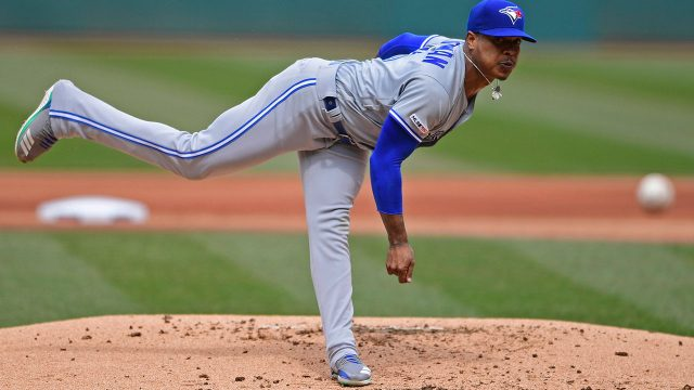 MLB-Blue-Jays-Stroman-pitches-against-Indians