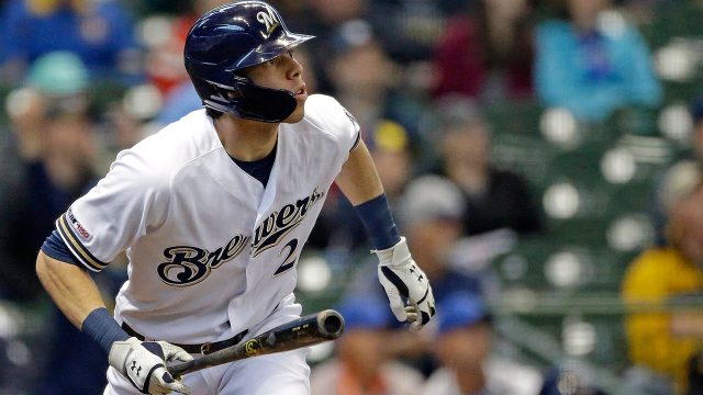 MLB-Brewers-Yelich-watches-home-run-against-Nationals