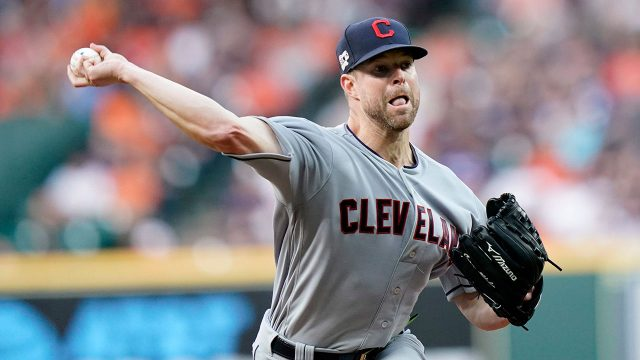 MLB-Indians-Kluber-throws-against-Astros