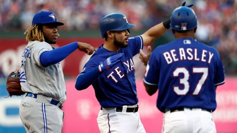 MLB-Isiah-Kiner-Falefa-celebrates-after-hitting-a-triple