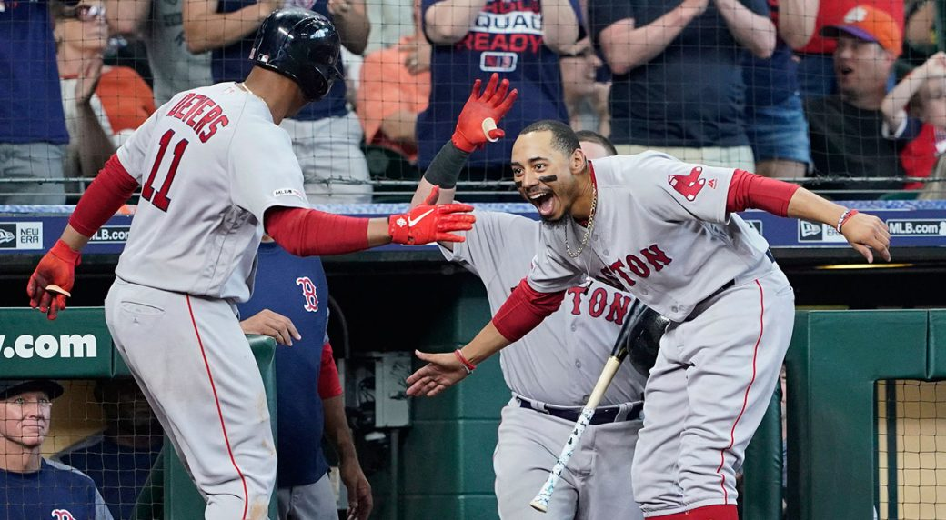 MLB-Red-Sox-Devers-celebrates-home-run-against-Astros