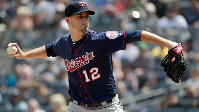 MLB-Twins-Odorizzi-pitches-against-Yankees