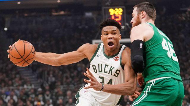 NBA-Bucks-Giannis-drives-against-Celtics