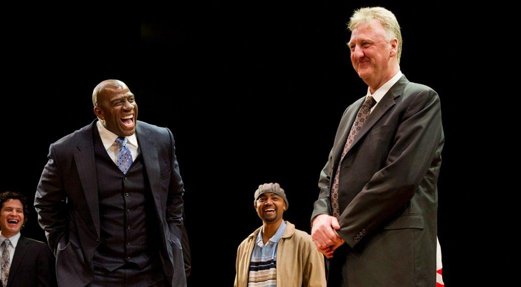 NBA-Larry-Bird-and-Magic-Johnson-laugh-during-conversation